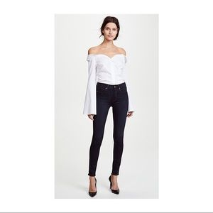 Paige Mid-Rise Ultra Skinny Ankle Jeans Dark Rinse